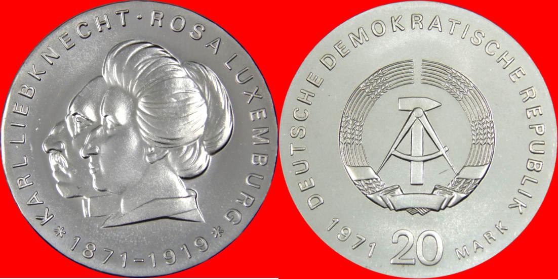 20 Mark 1971 Ddr N 10 Karl Liebknecht Und Rosa Luxemburg Unz