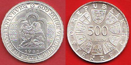 500 Schilling 1981 Oesterreich Verduner Altar Silber Stempelglanz