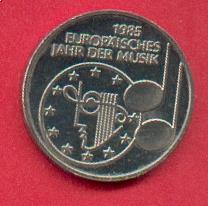 5 Dm 1985 Brd Europäisches Jahr Der Musik Stempelglanz Brilliant