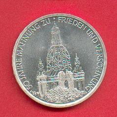 10 Dm 1995 Brd Wiederaufbau Frauenkirche Dresden Stempelglanz St
