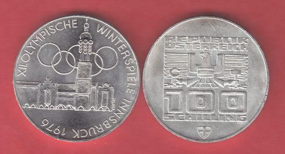 100 Schilling 1976 österreich Winterolympiade Innsbruck Altstadt