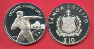 Westsamoa 10 Dollar Olympiade 1992 Barcelona,  Kugelstoßen