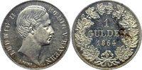 1 Gulden 1864 Bayern, Königreich Ludwig II. (1864-1886) min. berieben, ... 275,00 EUR  +  7,50 EUR shipping