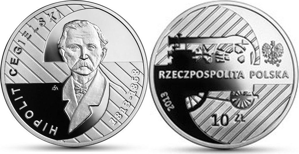 10 Zloty 2013 Polen - Polska - Poland Hypolit Cegielski . 200.Geb. Philologe, Unternehmer, Journalist und Politiker Polierte Platte