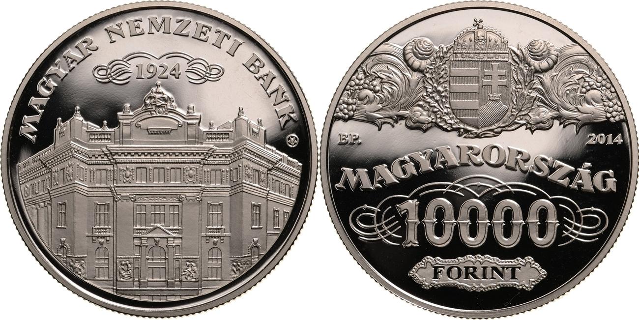 10 000 Forint 2014 Ungarn - Hungary - Magyarorszag 90. Jahrestag der Gründung der Nationalbank MNB MAGYAR NEMZETI BANK Polierte Platte PP