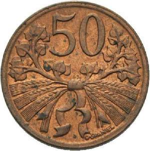 50 Heller 1948 CSR/CSSR/CSFR - Tschechoslowakei Umlaufmünze 50Heller vz- fast unzirkuliert