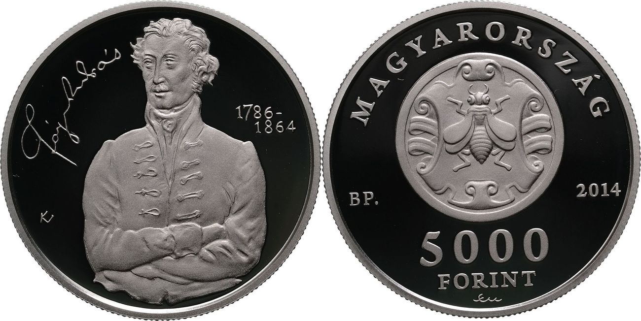 5000 Forint 2014 Ungarn - Hungary - Magyarorszag 150. Todestag von András Fáy (1786-1864) Polierte Platte