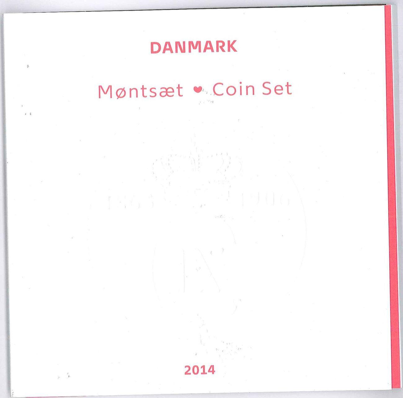 38,50 Kroner 2014 Dänemark - Danmark - Kursmünzenserie uncirculated BU