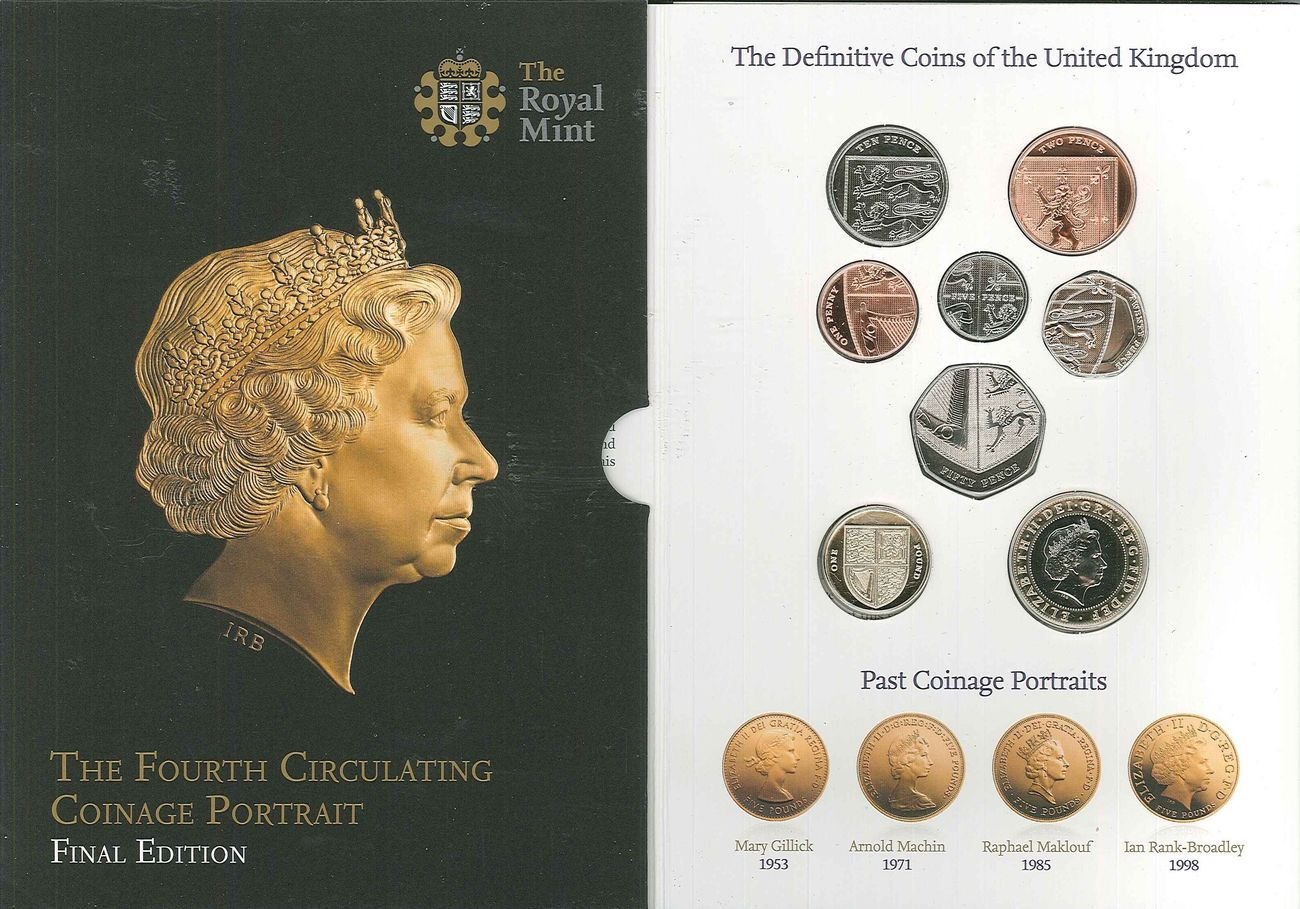 3,88 Pfund 2015 Grossbritannien - Great Britain Original Kussatz 2015 Diue Vierte Umlaufmünzenserie Portraits.- endgültige Aus. BU uncirculated feinst Folder
