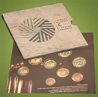 3,88 EUR + 2 EUR 2015 Lettland - Latvija - Latvia Kursmünzensatz auf EU- Ratspräsidentschaft Lettlands 5,88 EUR uncirculated- Stgl.