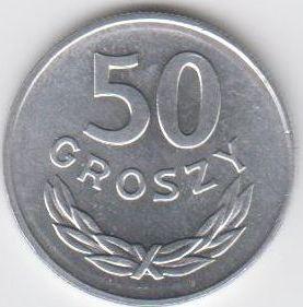 50 Groszy 1970 Polen - Polska - Poland Umlaufmünze Kupfernickel unzirkuliert