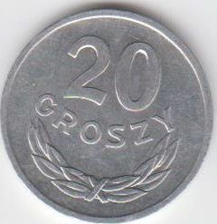 20 Groszy 1966 Polen - Polska - Poland Umlaufmünze vorzüglich - fast unzirkuliert