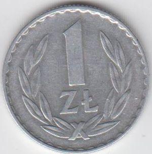1 Zloty 1969 Polen - Polska - Poland Umlaufmünze Aluminium vorzüglich