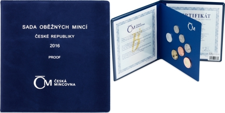 Kurssatz Coin Set 2016 Tschechien - Czech Republic Original KMS 2016 mit Silbermedaille Heilige Agneska PP - Proof