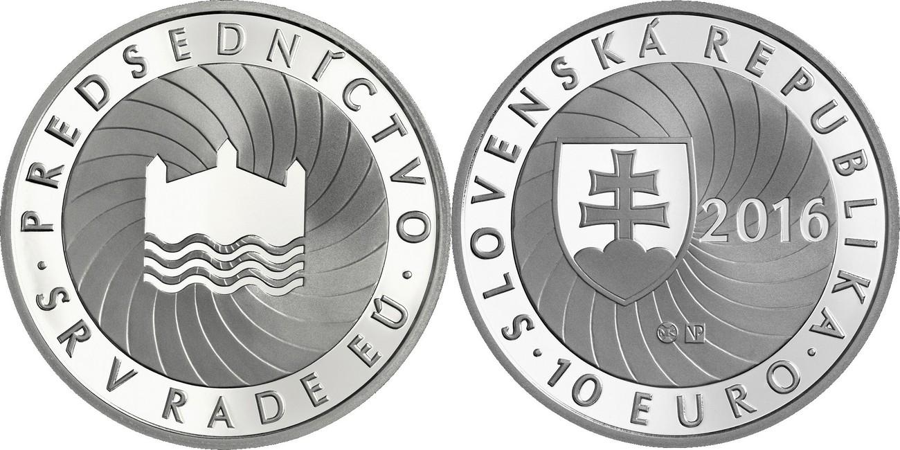 10 Euro 2016 Slowakei - Slovakia - Slovensko EU-Ratspräsidentschaft der Slowakei BU Unzirkuliert