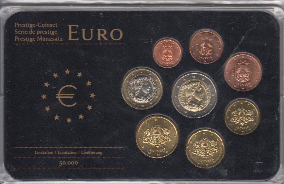 388 Eur In Kapseln Perfekt 2014 Lettland Latvija Latvia Münzen
