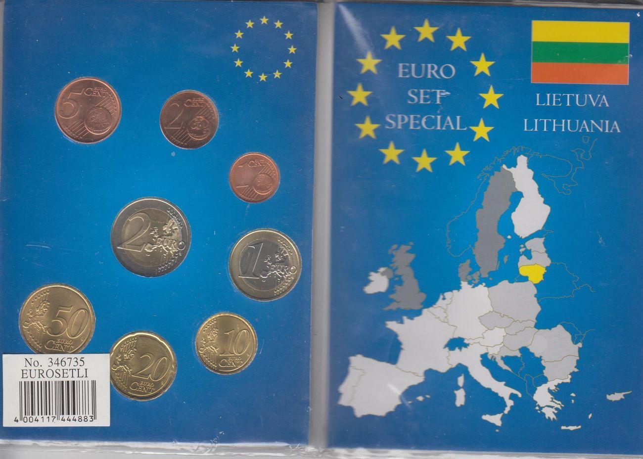 388 Eur In Papierfolder 2015 Litauen Lietuva Lithuania Münzen 1