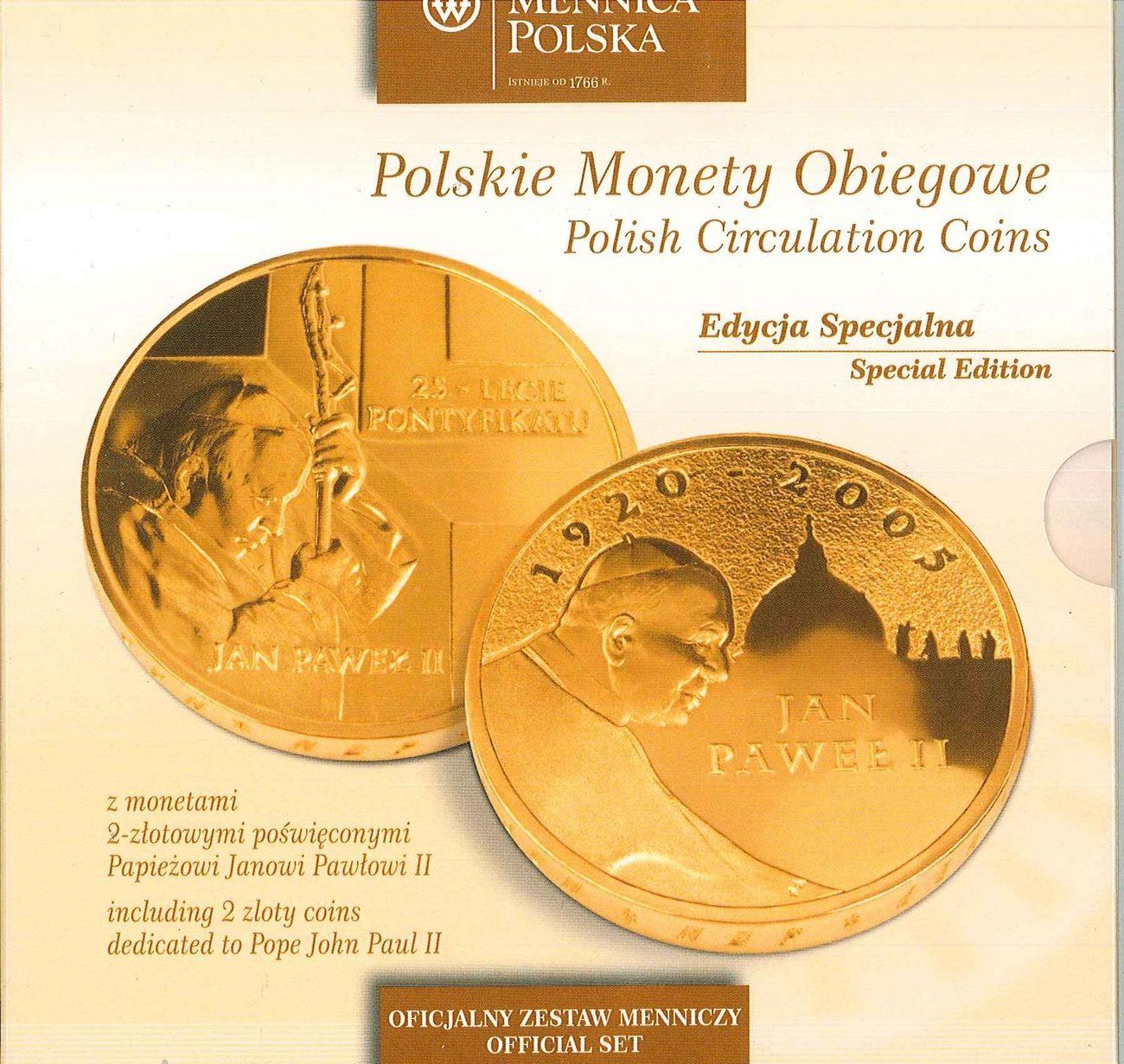 1288 Zloty Polen Polska Poland Kursmünzensatz Der Münze Warschau