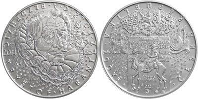 200 Kronen korun  2014 Tschechien - Czech Republic - Ceská republika 450. Geburtstag von Freiherr Christoph Harant von Polschitz Polierte Platte PP