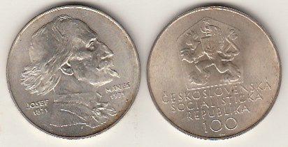 100 Kronen 1971 CSR / CSSR / CSFR - Tschechoslowakei Manes, Josef - Maler 100. Geburtstag unzirkuliert