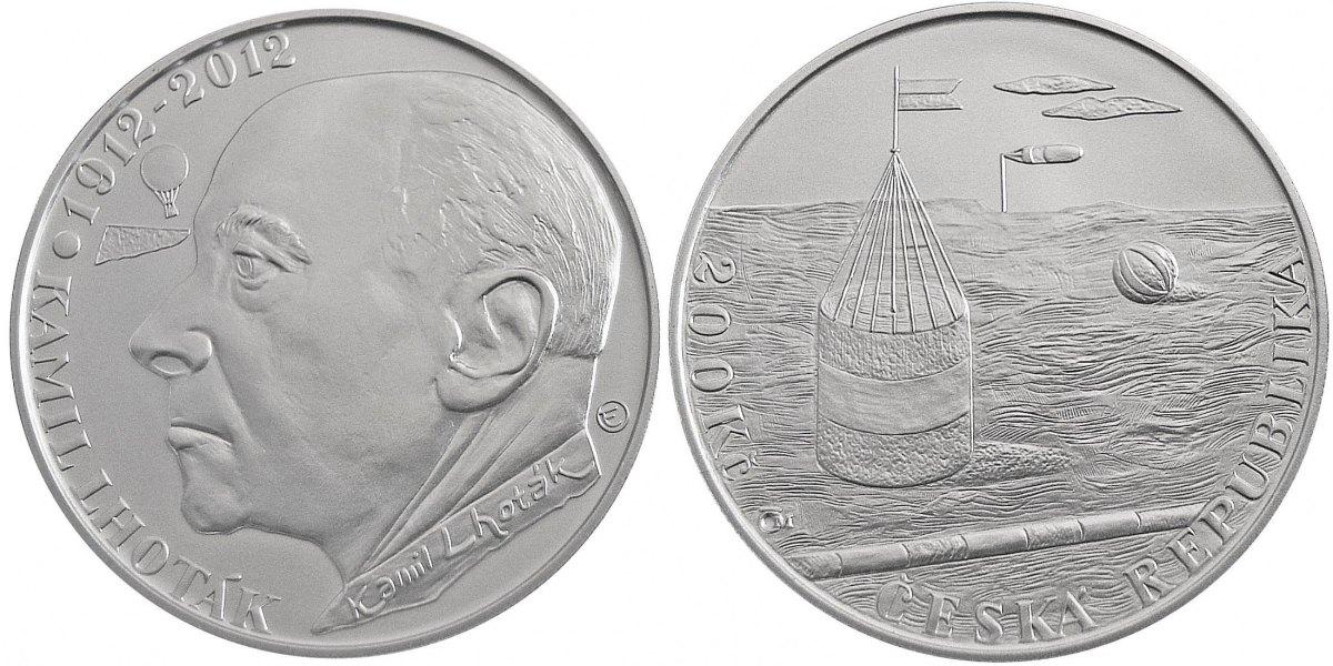 200 Kronen 2012 Tschechien - Czech Republic - Ceská Republika 100. Geburtstag von Kamil Lhoták - Maler Polierte Platte PP