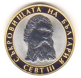 10 Lewa - 10 Leva BIMETALL 2008 Bulgarien / Bulgaria Schätze Bulgariens Nr. 4 Thrakierkönig Sewt III PP Proof