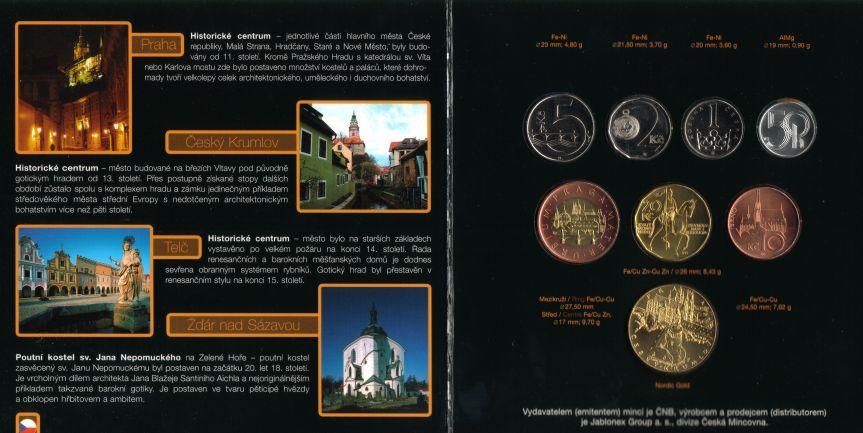 88,50 Kronen 2006 Tschechien Czech Republic Original-Kursmünzensatz 2006 Weltkulturerbe Stempelglanz BU