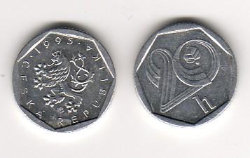 20 Heller Münzzeichen Hamburg 1995 Tschechien Umlaufmünze vz.unzirkuliert