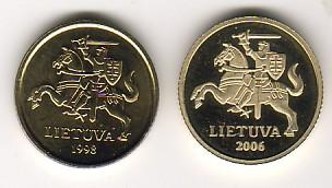 10 Centu 2006 Litauen - Lithuania - Lietuva Kursmünze 10 Centu -Supererhaltung PP Polierte Platte PP RAR