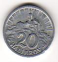 20 Heller 1943 Slowakei - Slowakischer Staat 1939-1945 Umlaufmünze RAR Stempelglanz feinst