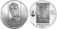 Slowakei - Slovakia - Slovensko 10 Euro 150. Geburtstag von Ladislav Nádaši-Jégé