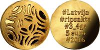 "5 Euro 2016 Lettland - Latvija - Latvia ""Goldene Brosche"" Polierte Patt... 239,00 EUR kostenloser Versand"