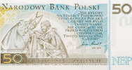 Polen - Polska - Poland 50 Zloty Gedenkbanknote auf Papst Johannes Paul II.