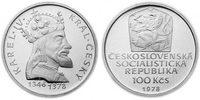 100 Kronen 1978 CSR/CSSR/CSFR - Tschechoslowakei Karl IV. 600. Todestag... 18,00 EUR  zzgl. 4,50 EUR Versand