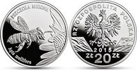 Polen - Poland - Polska 20 Zloty Honigbiene (Apis mellifera)