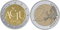 "Litauen - Lietuva - Lithuania 2 EUR Litauische Sprache ""ACIU - DANKE"""