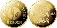 1 Kroon 2008 Estland Estonia EESTI 90 Jahre Republik Estland unz. Stgl.  2,00 EUR  zzgl. 4,50 EUR Versand