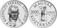 Ungarn - Hungary - Magyaroszág 3000 Forint 250. Geburtstag von Ferenc Kazinczy - Schriftsteller