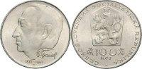 CSR/CSSR/CSFR - Tschechoslowakei 100 Kronen Spaniel, Otakar - 100. Geburtstag: Bildhauer Medailleur und Münzgestalter