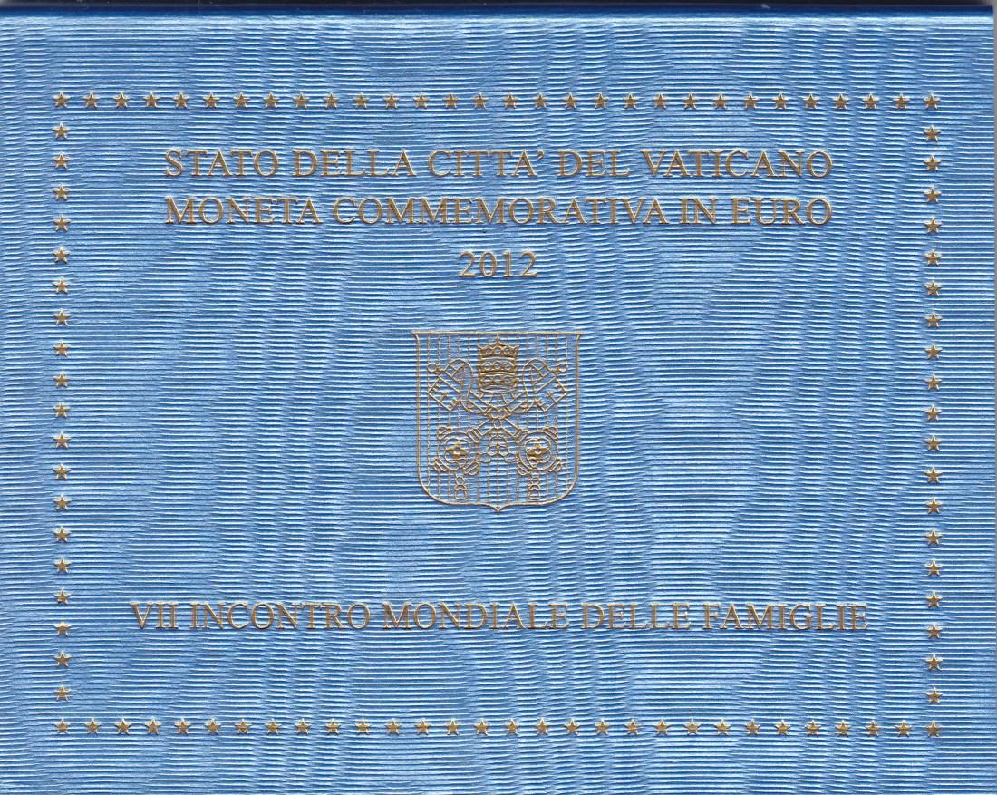 Vatikan 2 Euro 2012 Weltfamilientreffen orig. verpackt
