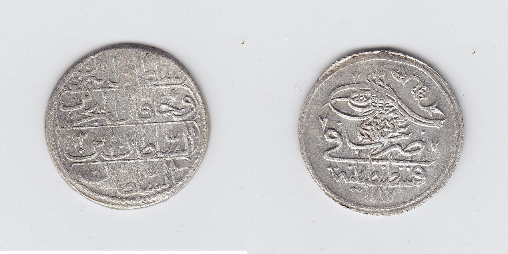 Türkei 10 Para 1187AH ss+