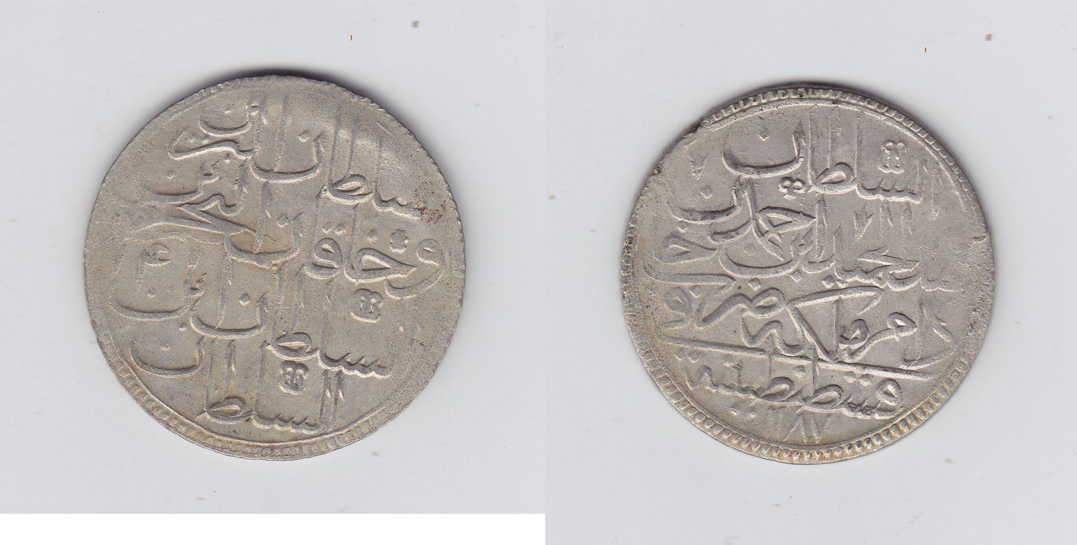 Türkei 2 Zolota 1187AH ss