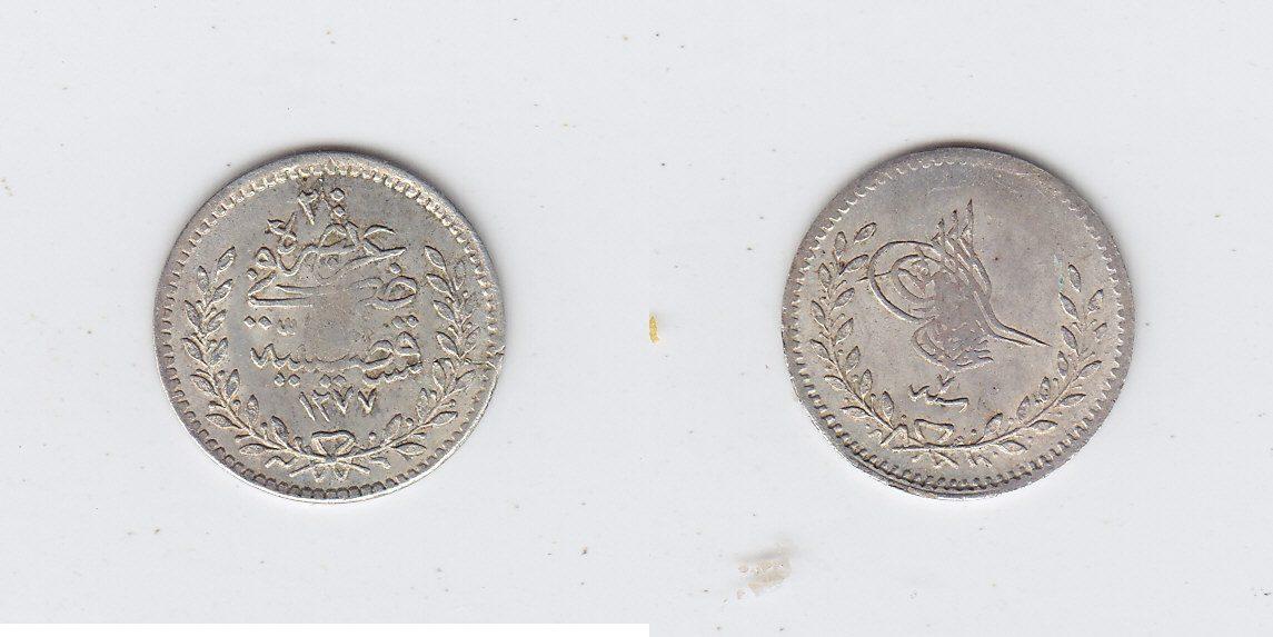 Türkei 20 Para 1277/7AH f.vz