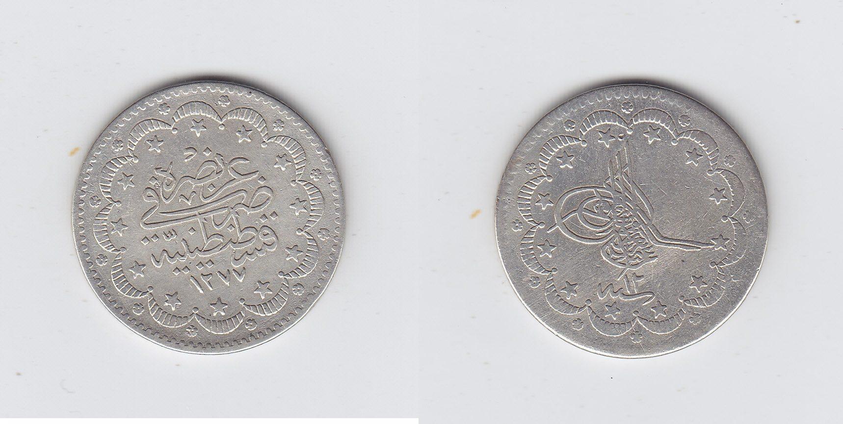 Türkei 5 Kurusch 1277/12AH ss