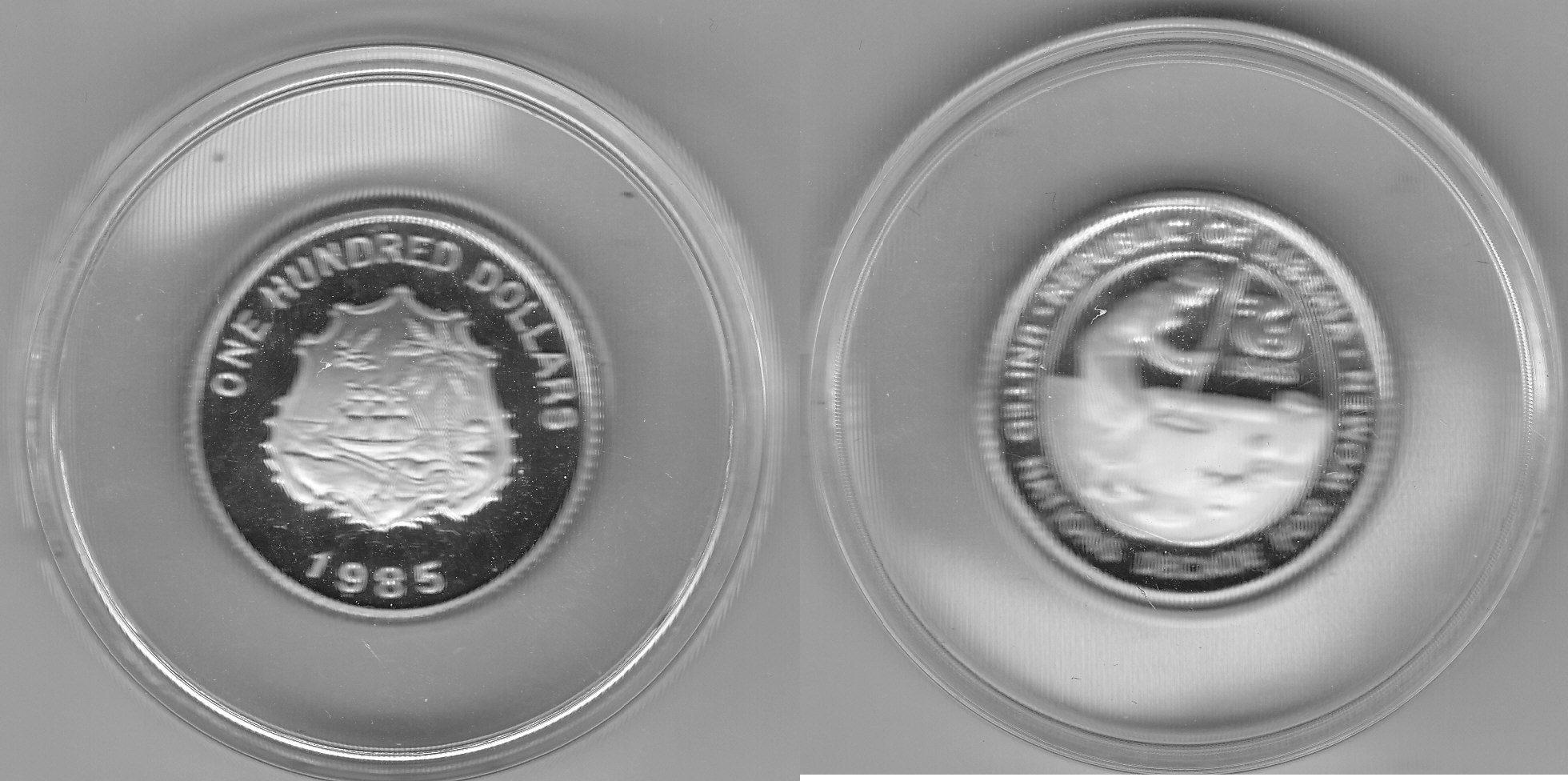Liberia 100 Dollars 1985 Dekade der Frau