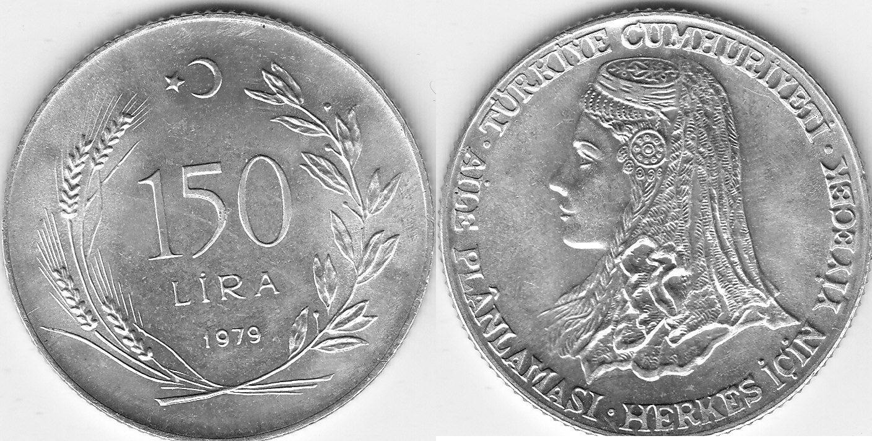 Türkei 150 Lira 1979 FAO unz