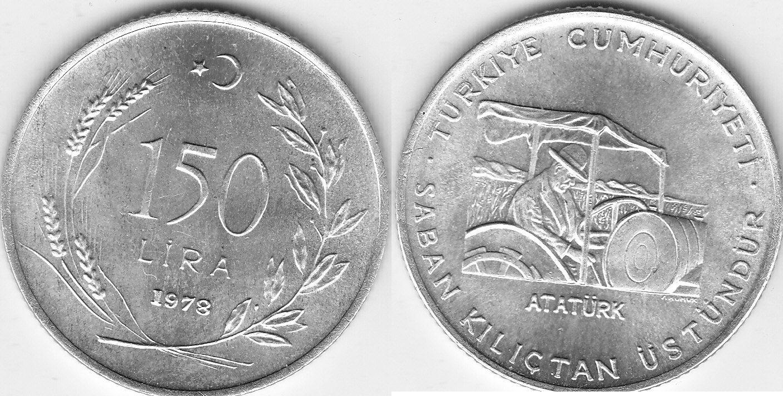 Türkei 150 Lira 1978 Fao unz