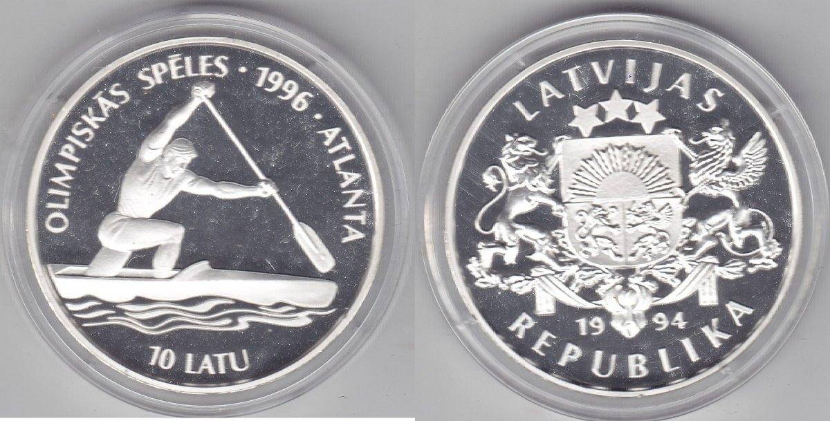 Lettland 10 Latu 1994 Olympiade Atlanta