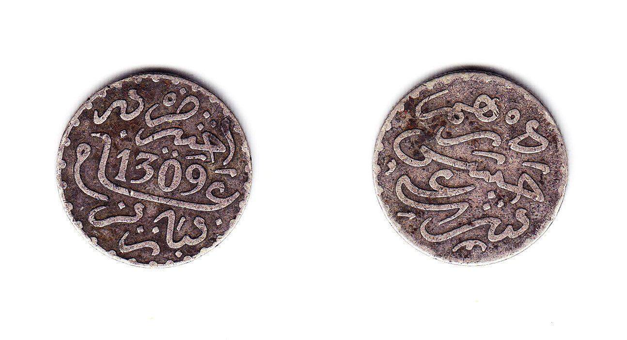 Marokko 1 Dirham 1309 Paris ss