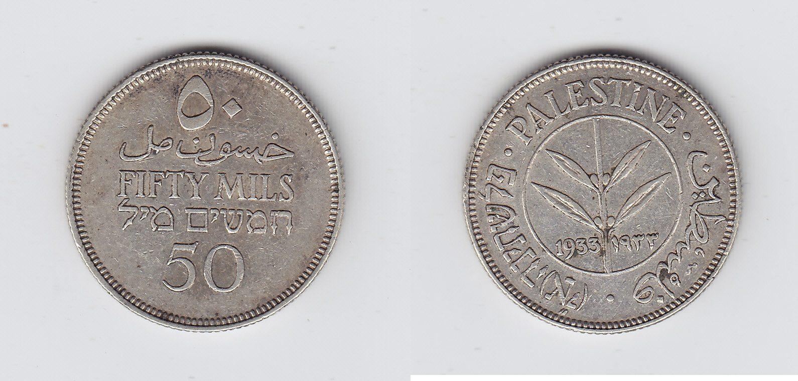 Palästina 50 Mils 1933 ss